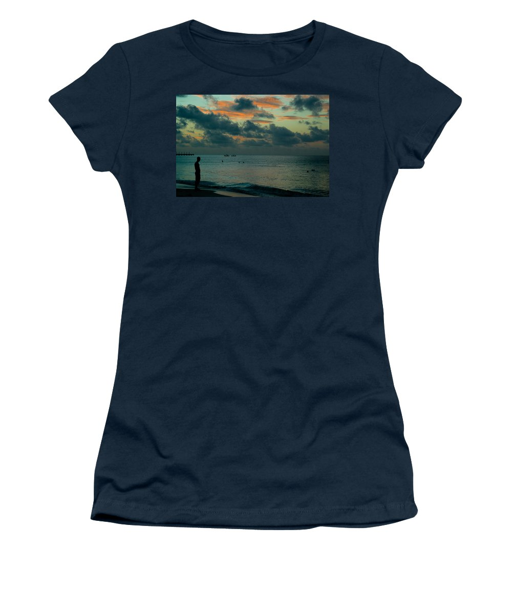 Sea Women's T-Shirt (Athletic Fit) featuring the photograph Early Morning Sea by Douglas Barnett