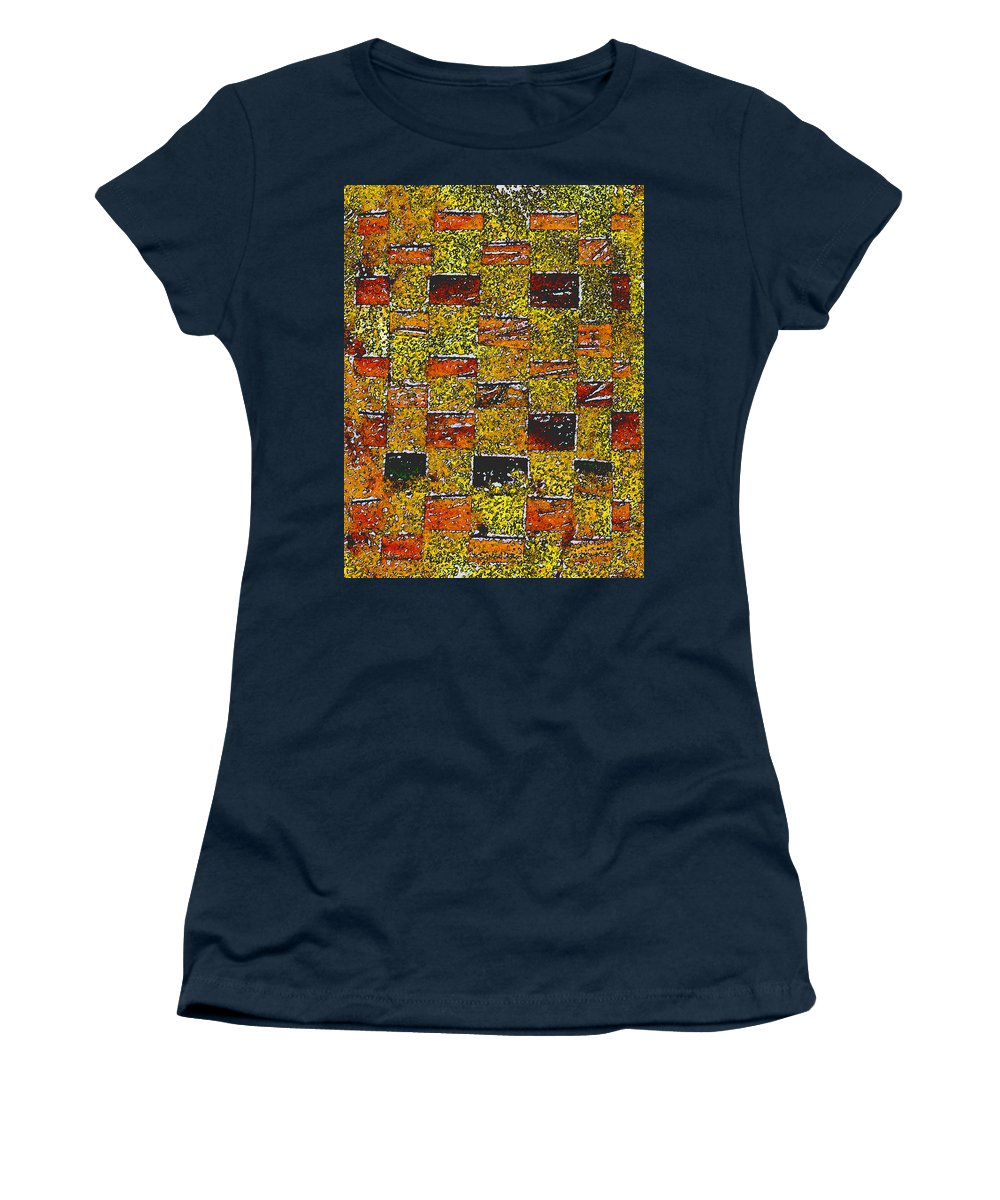 Weaving Women's T-Shirt featuring the painting Earths Tapestry by Wayne Potrafka