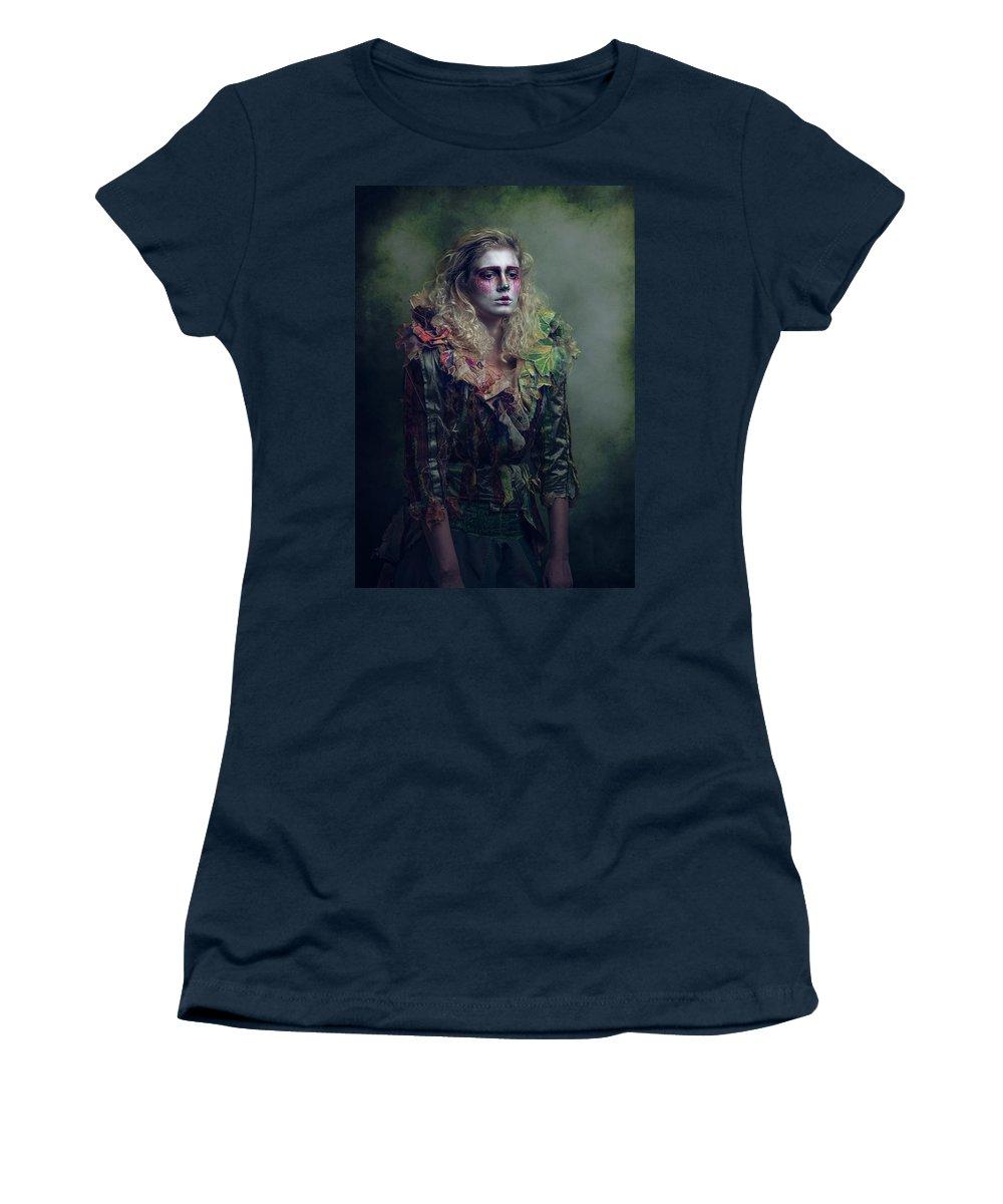 Women's T-Shirt featuring the digital art El Payaso 2 by Clinton Lofthouse