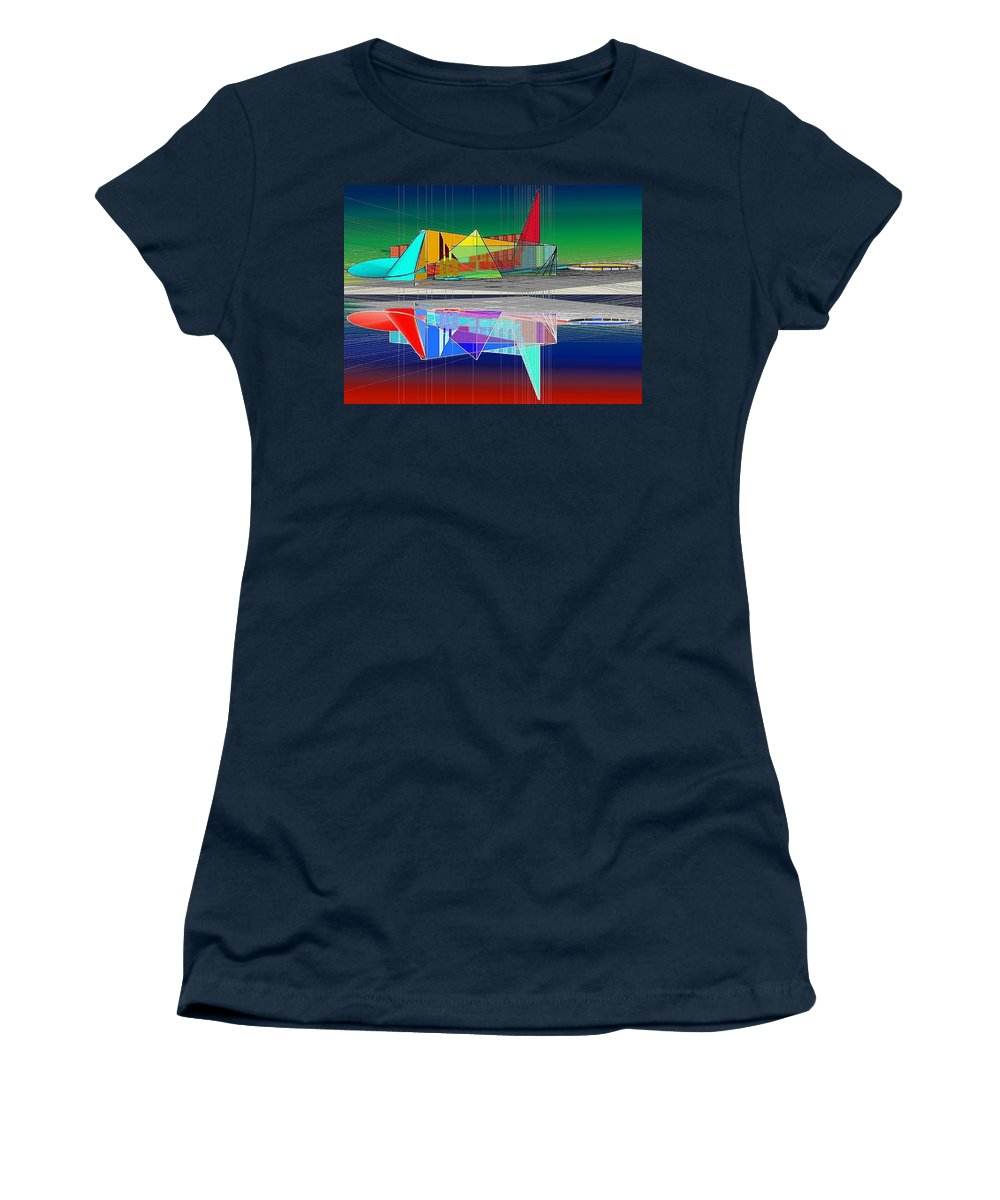 Cathedral Women's T-Shirt (Athletic Fit) featuring the digital art Ethereal Reflections by Don Quackenbush