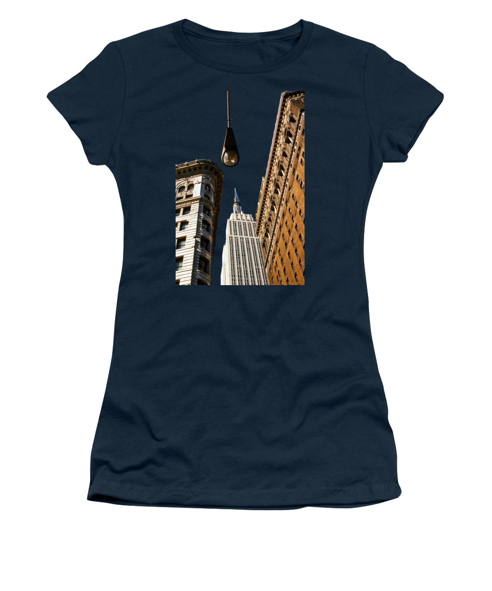 Flatiron District Women's T-Shirt featuring the photograph Flatiron District by Paul Lamonica