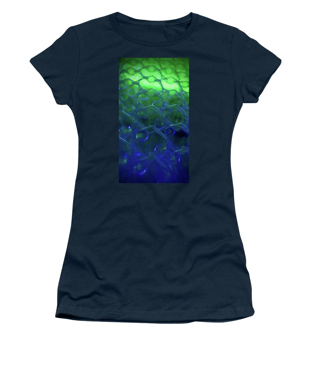 Abstract Women's T-Shirt (Athletic Fit) featuring the photograph Floating Bubbles # 9 by Paolo Staccioli