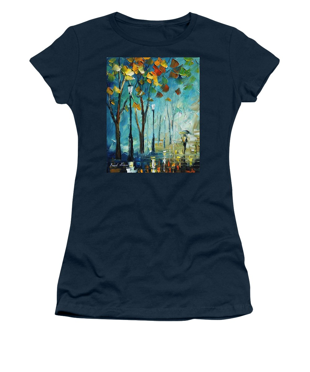 Afremov Women's T-Shirt featuring the painting fog by Leonid Afremov