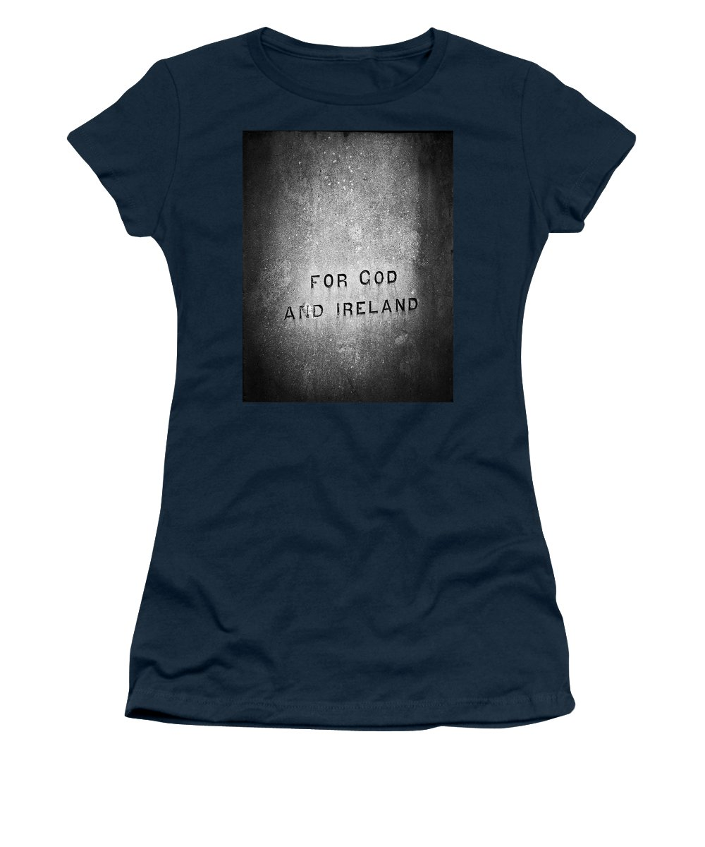 Irish Women's T-Shirt (Athletic Fit) featuring the photograph For God And Ireland Macroom Ireland by Teresa Mucha