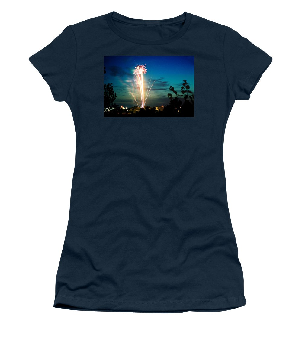 Landscape Women's T-Shirt featuring the photograph Fourth Of July by Steve Karol