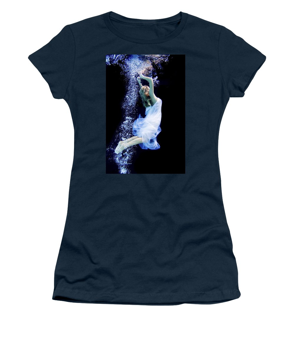 Underwater Women's T-Shirt featuring the photograph Free Fall by Steve Williams