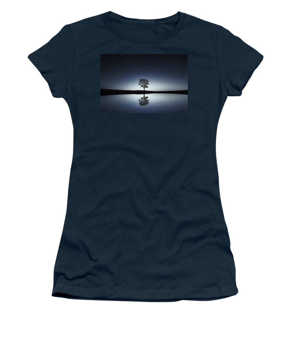 Tree Women's T-Shirt featuring the photograph Solitude by Gallery Of Modern Art