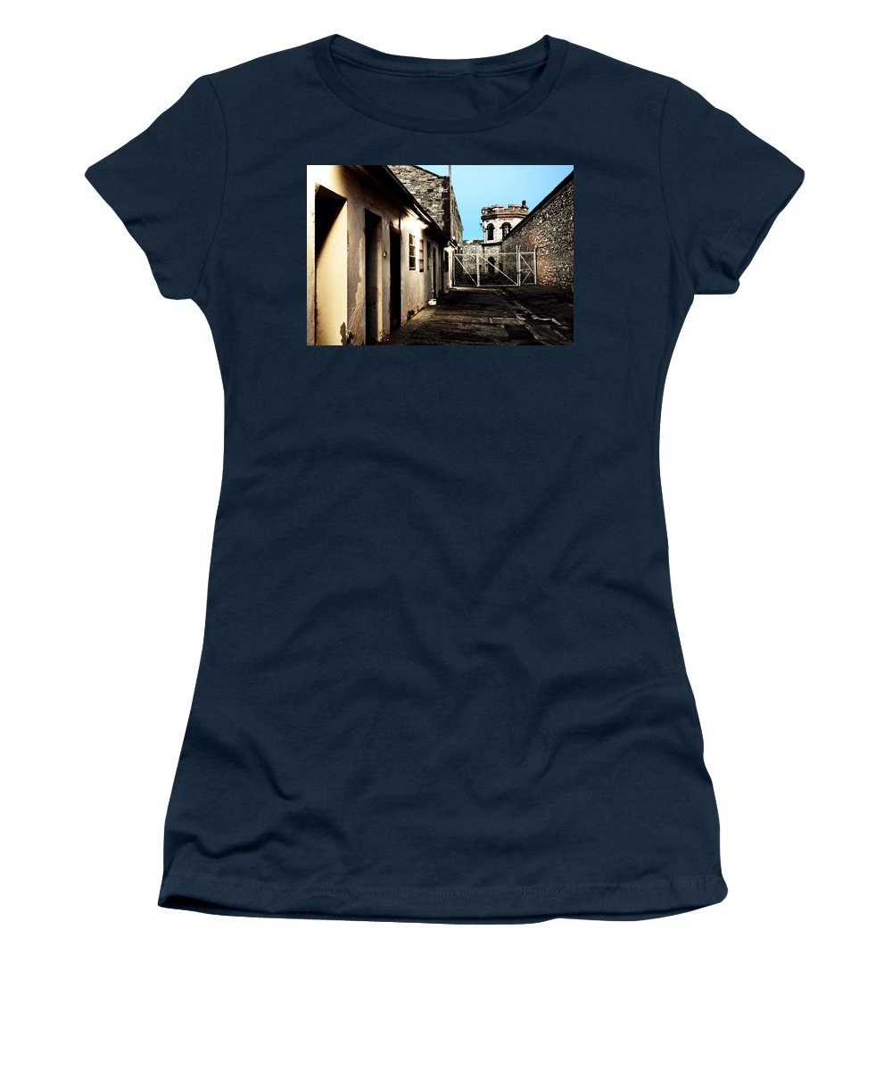 Old Women's T-Shirt featuring the photograph Gaol by Kelly Jade King