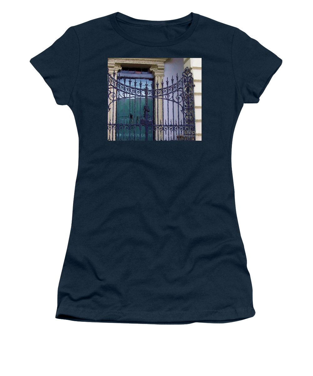 Gate Women's T-Shirt featuring the photograph Gated by Debbi Granruth