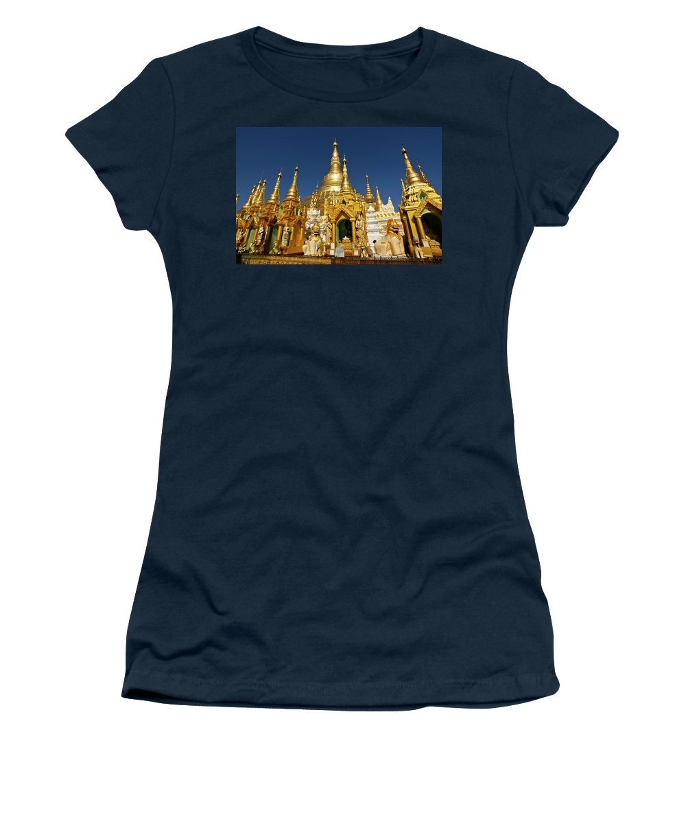 Asia Women's T-Shirt featuring the photograph Golden Spires by Michele Burgess