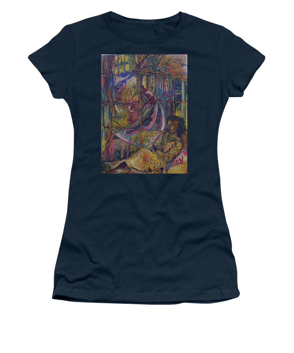 Mother Women's T-Shirt featuring the painting Goodbye Sweet Dreams by Peggy Blood