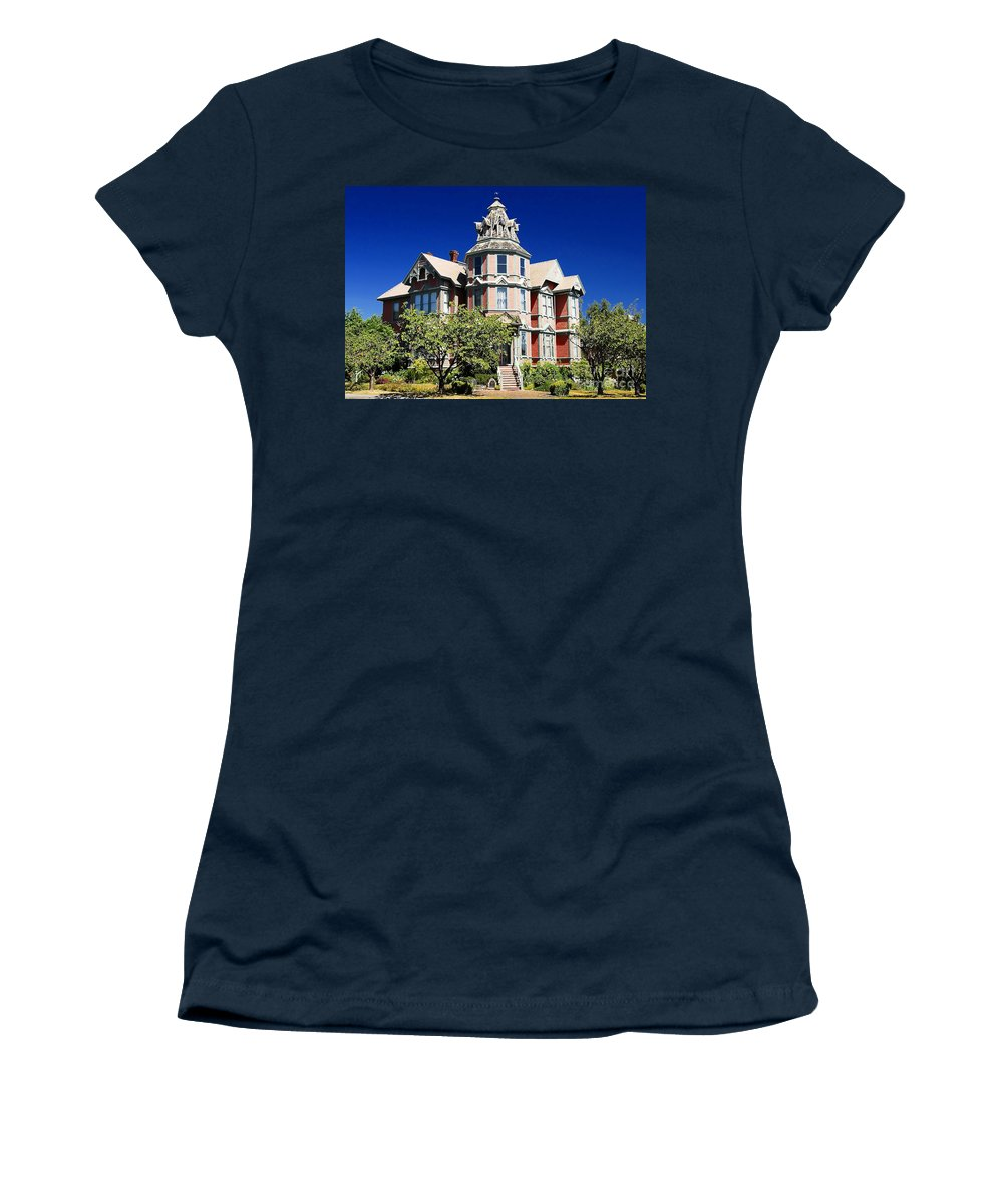 Russian Orthodox Women's T-Shirt (Athletic Fit) featuring the photograph Great Old House by David Lee Thompson
