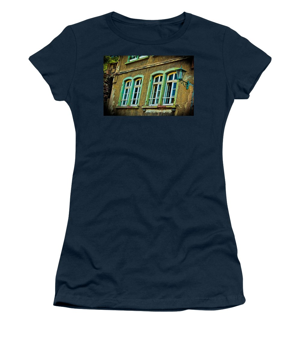 Windows Women's T-Shirt featuring the photograph Green Windows by Jill Smith
