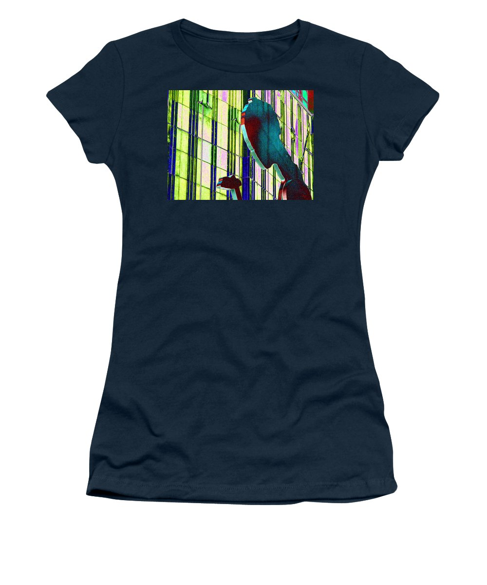 Seattle Women's T-Shirt (Athletic Fit) featuring the digital art Hammering Man 3 by Tim Allen