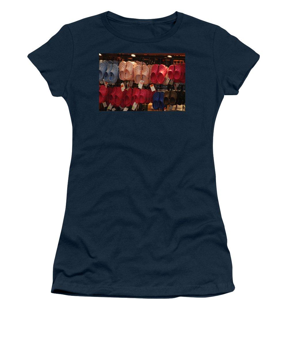 Pop Art Women's T-Shirt featuring the photograph Hanging Crocs by Rob Hans