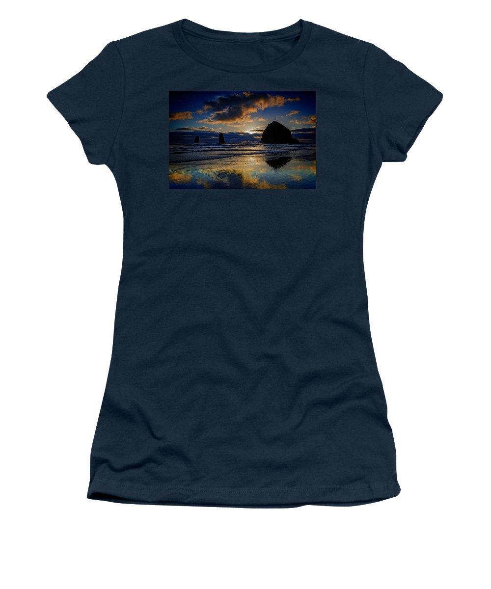 Oregon Women's T-Shirt featuring the photograph Haystack Sunset by Rick Berk