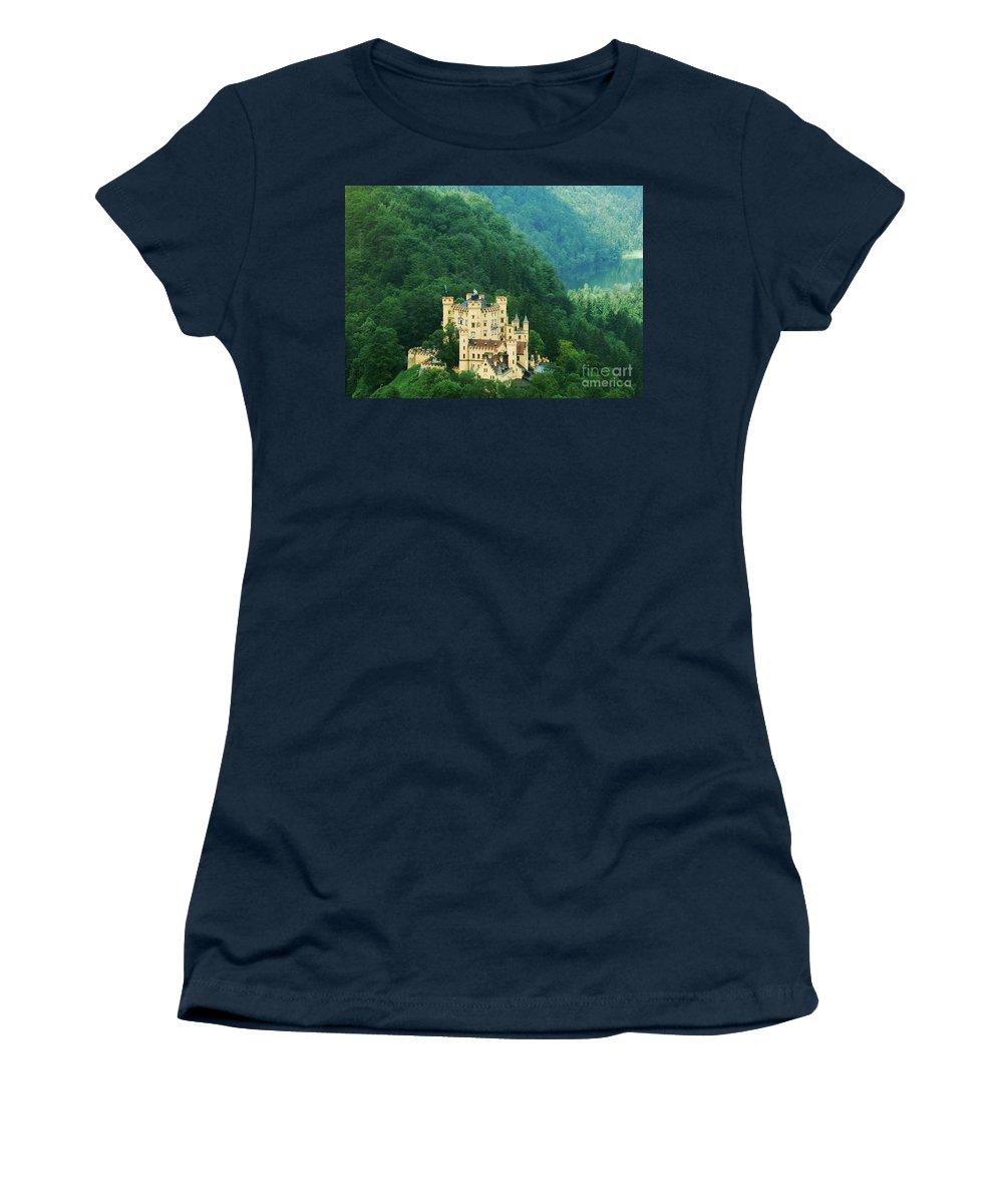 Prott Women's T-Shirt featuring the photograph Hohenschwangau Castle 1 by Rudi Prott