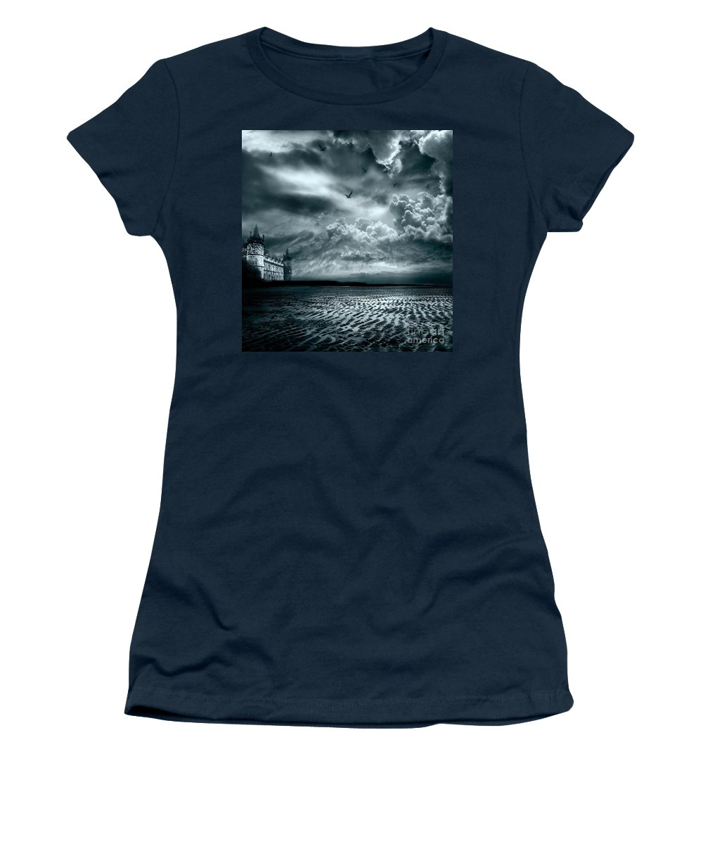 Beach Women's T-Shirt (Athletic Fit) featuring the photograph Home by Jacky Gerritsen