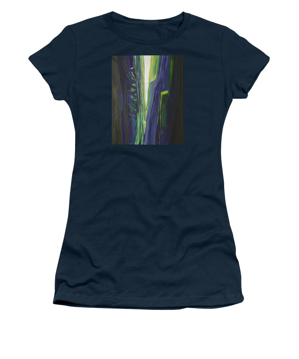 Landscape Women's T-Shirt featuring the painting Hope. by Jarle Rosseland