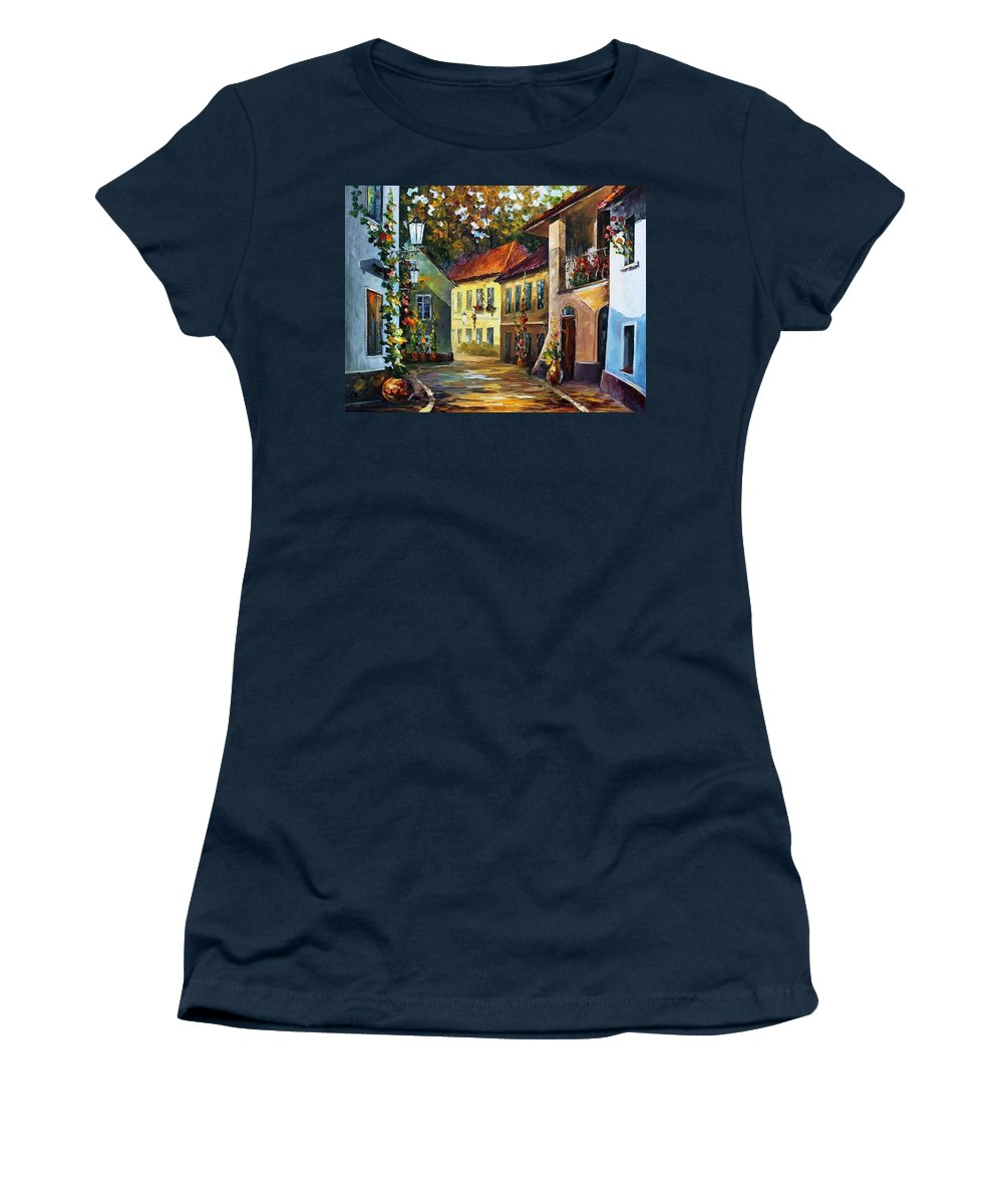 Afremov Women's T-Shirt featuring the painting Hot Noon by Leonid Afremov