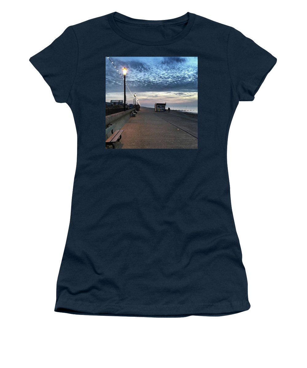 Beautiful Women's T-Shirt featuring the photograph Hunstanton At 5pm Today  #sea #beach by John Edwards