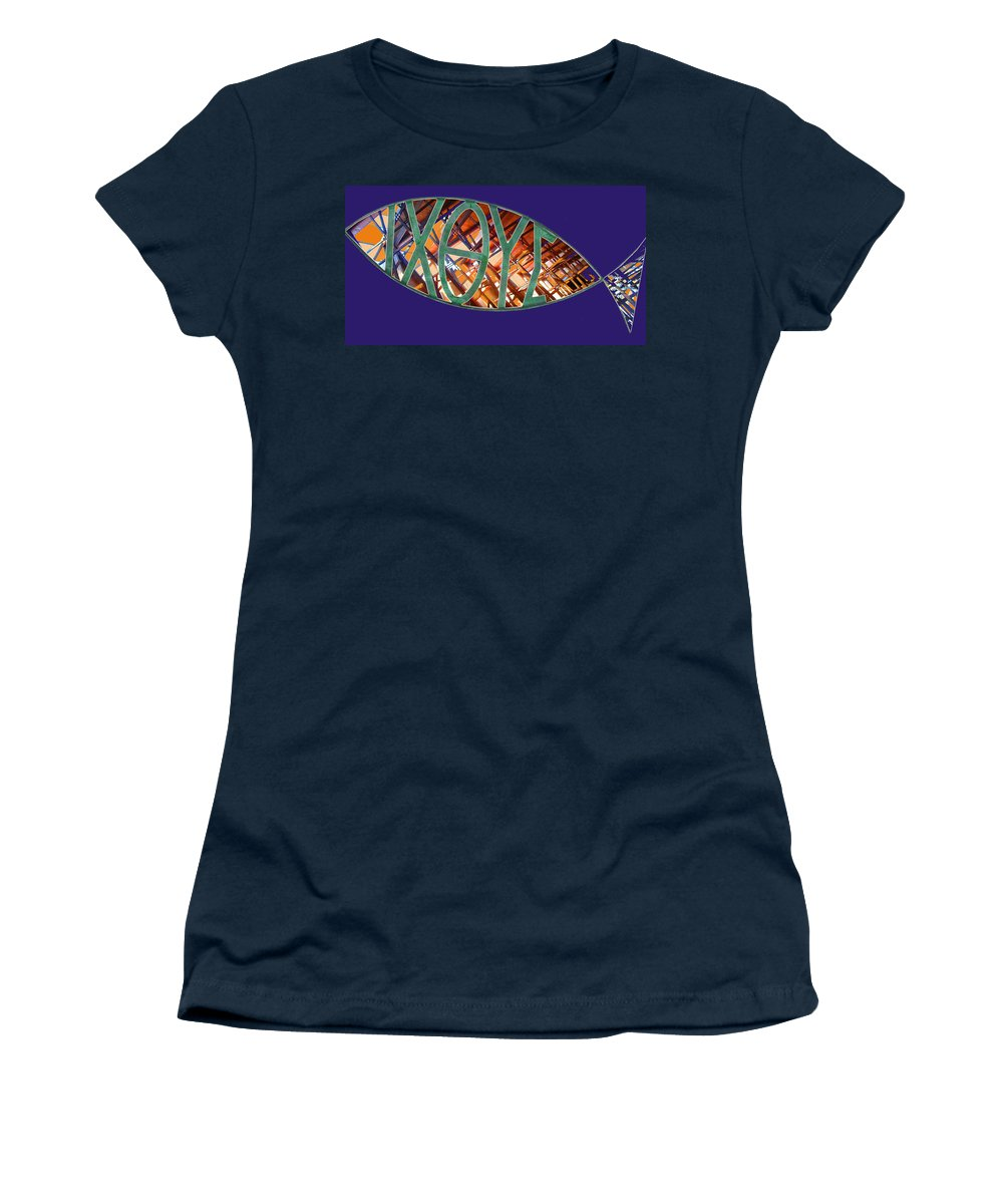 Fish Women's T-Shirt (Athletic Fit) featuring the photograph Ichthys Fish by Anne Cameron Cutri