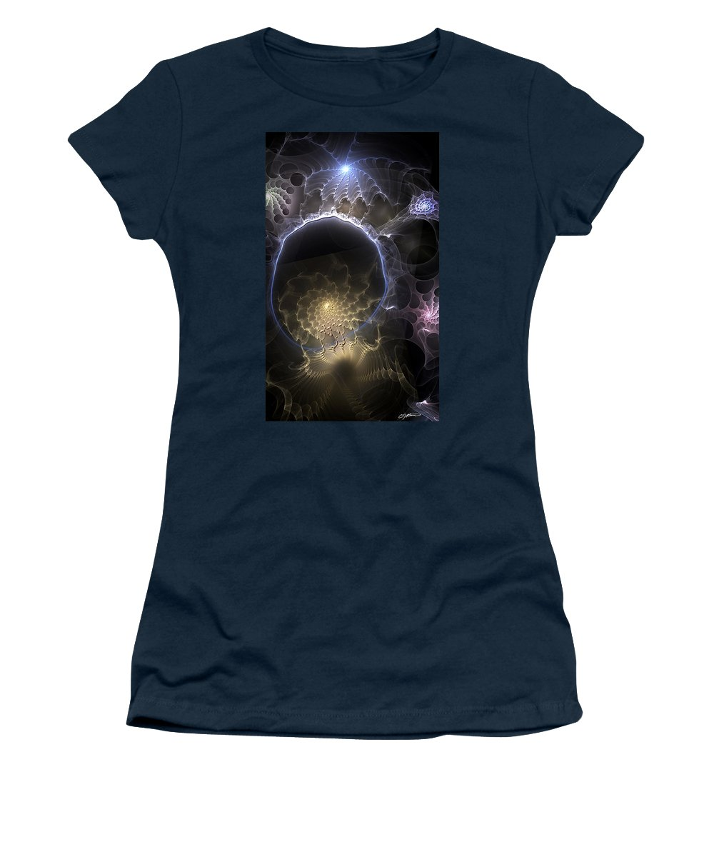Abstract Women's T-Shirt featuring the digital art Indefinable Expressions by Casey Kotas