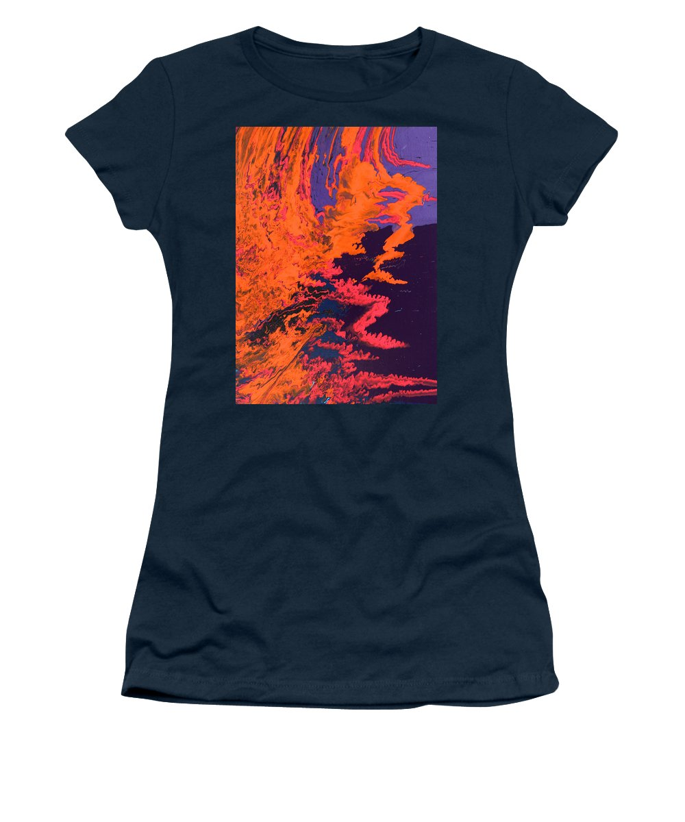 Fusionart Women's T-Shirt featuring the painting Initiative by Ralph White