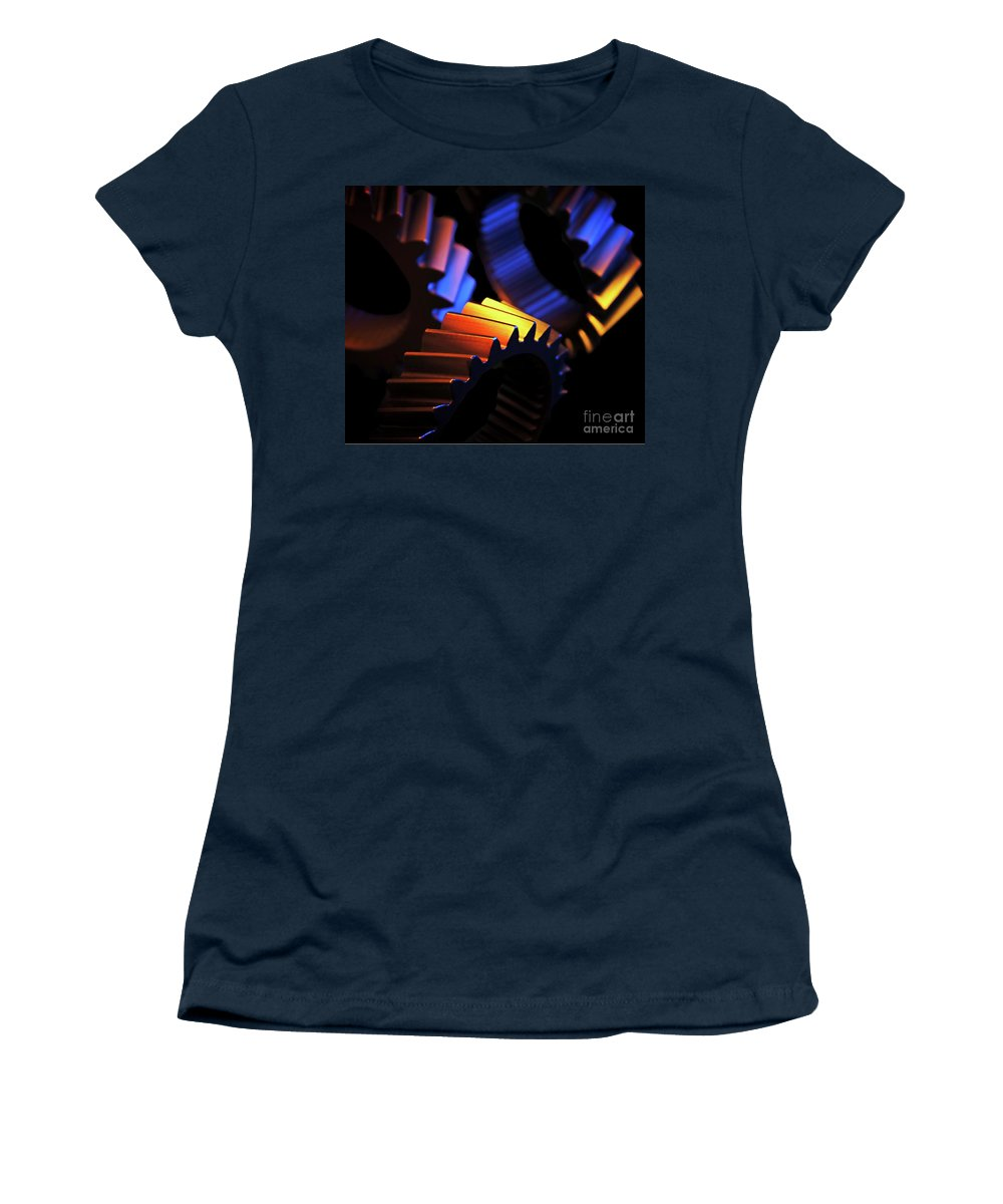 Gears Women's T-Shirt featuring the photograph Inner Workings by Chris Fleming
