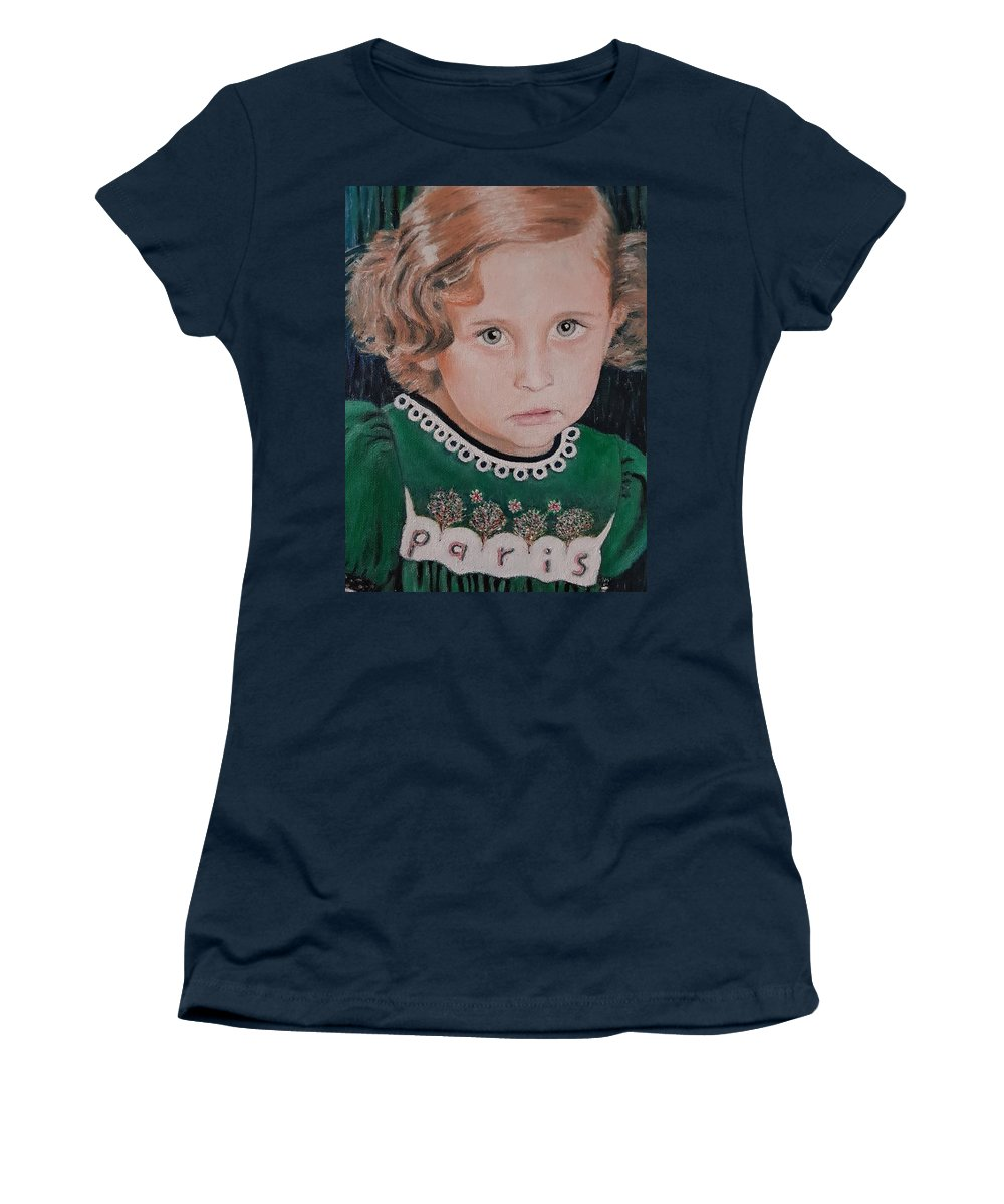 Paris Jackson Women's T-Shirt (Athletic Fit) featuring the painting Innocence by Cassy Allsworth