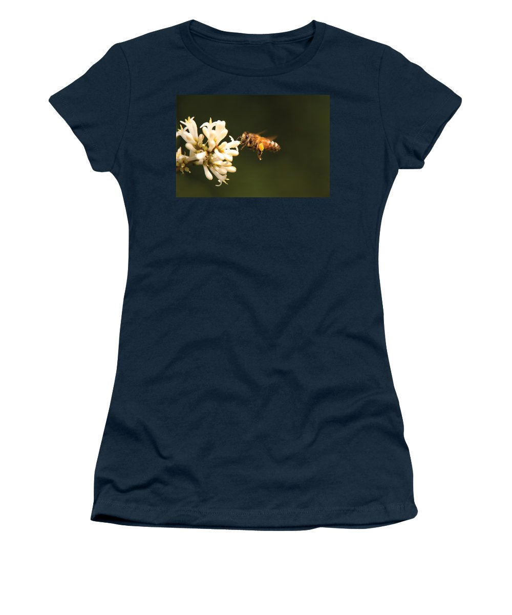 Savad Women's T-Shirt featuring the photograph Insect - Bee - Honey I'm Home by Mike Savad