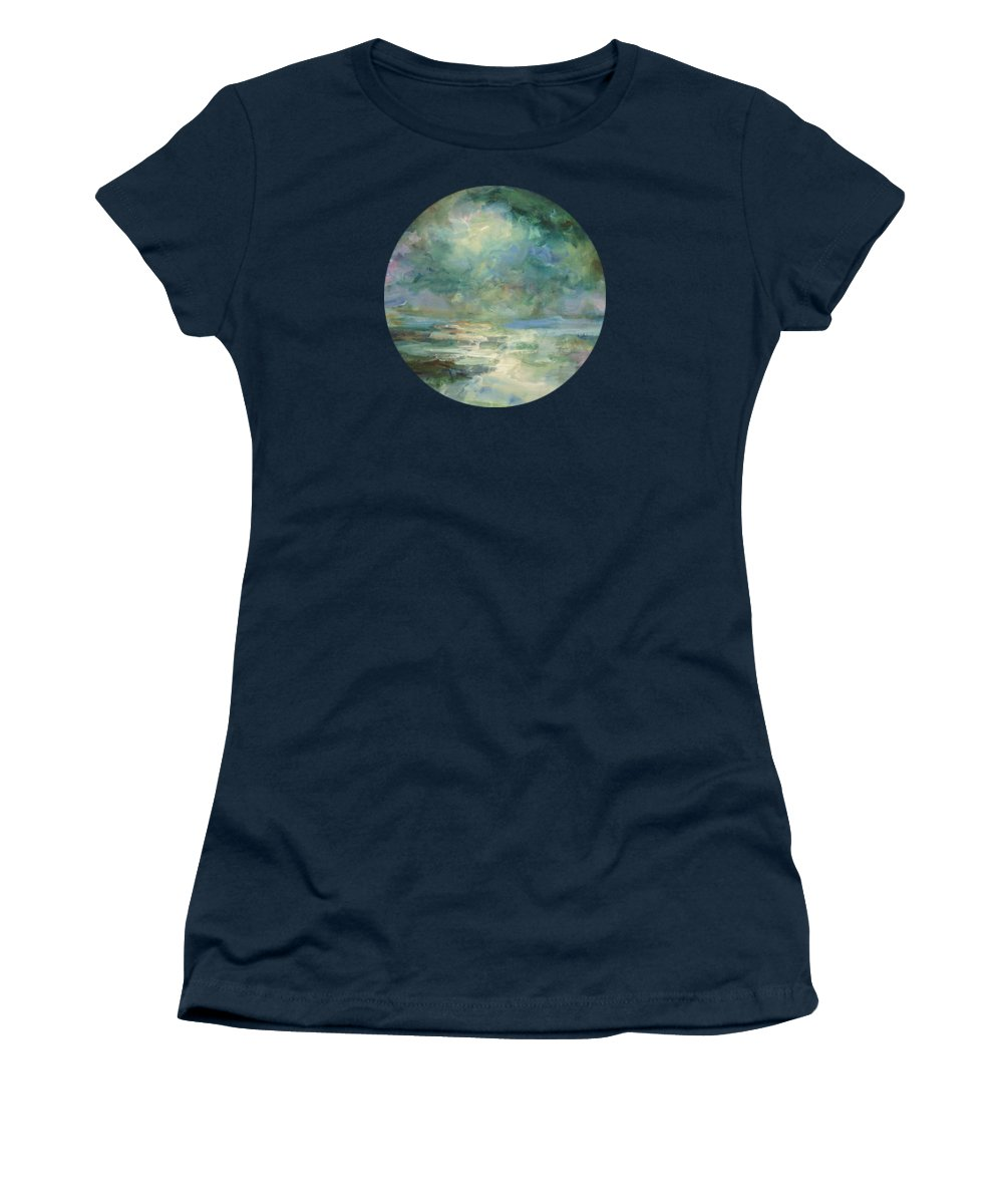 Impressionism Women's T-Shirt featuring the painting Into The Light by Mary Wolf