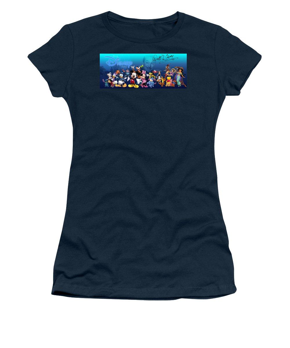 Disney Women's T-Shirt featuring the digital art Its A Disney Thing by Edward Cormier Jr