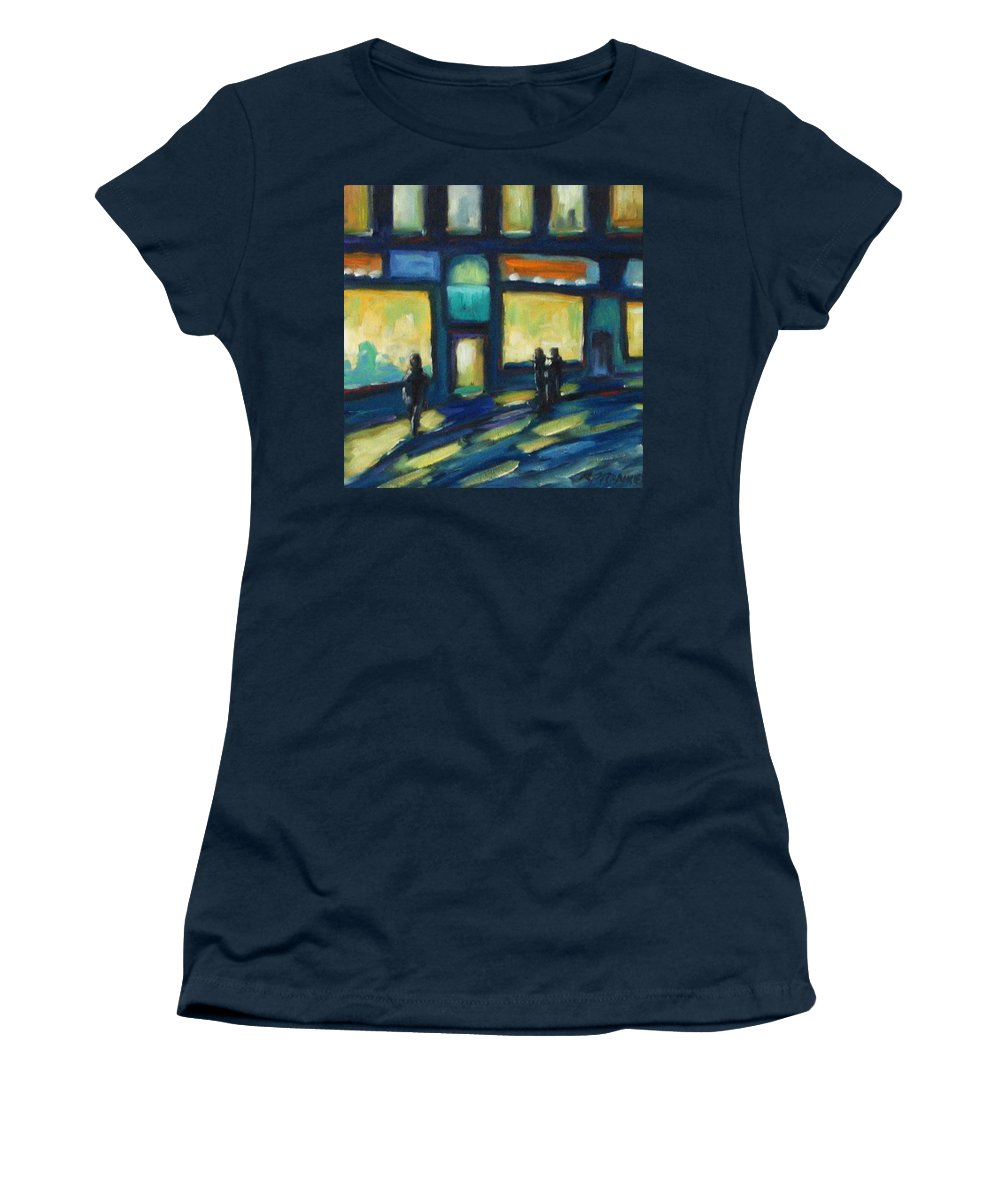 Town Women's T-Shirt featuring the painting Just Looking by Richard T Pranke