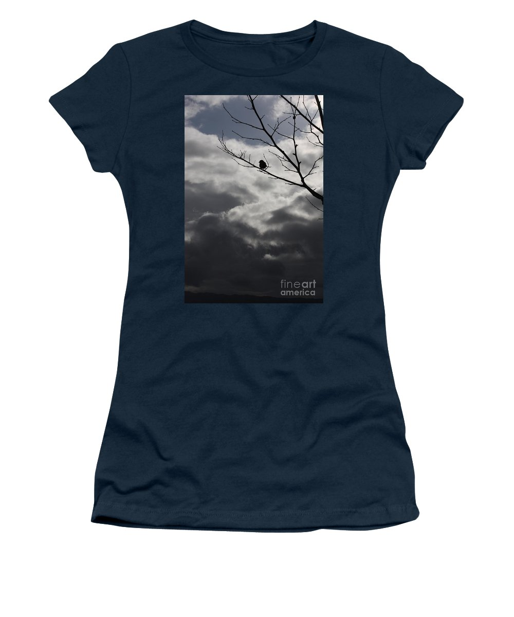Storm Women's T-Shirt (Athletic Fit) featuring the photograph Keeping Above The Storm by Carol Groenen