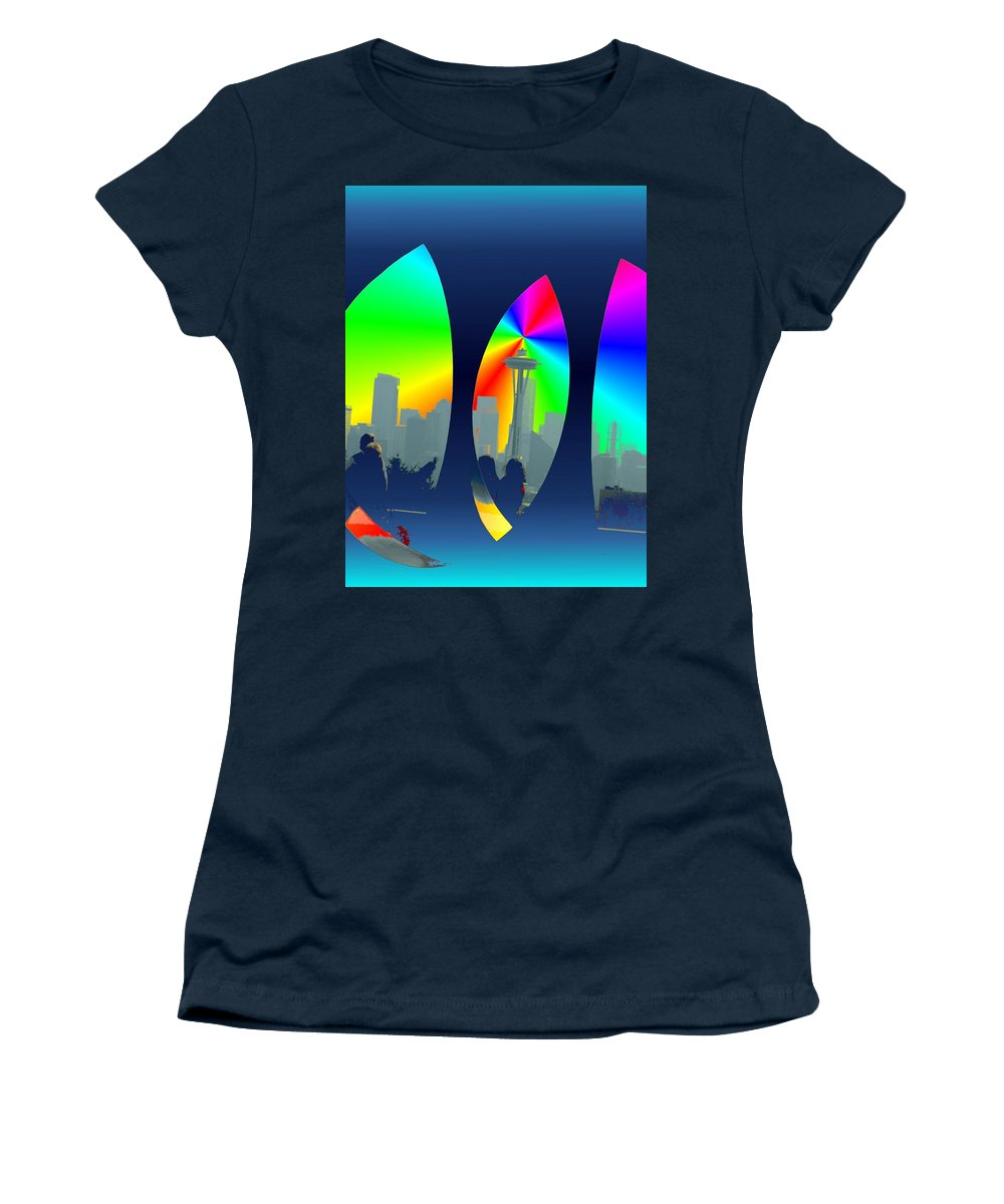 Seattle Women's T-Shirt (Athletic Fit) featuring the digital art Kerry Needle 3 by Tim Allen