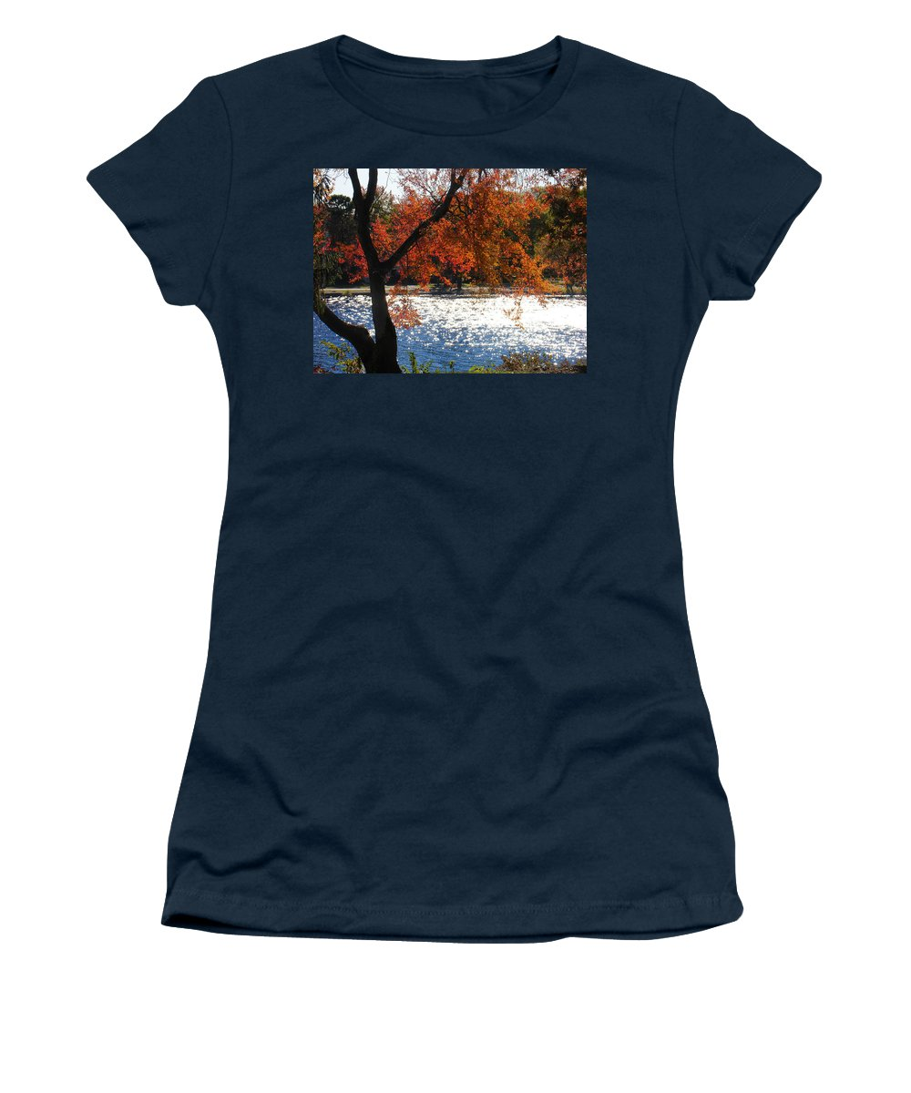 Landscape Women's T-Shirt (Athletic Fit) featuring the photograph Lakewood by Steve Karol