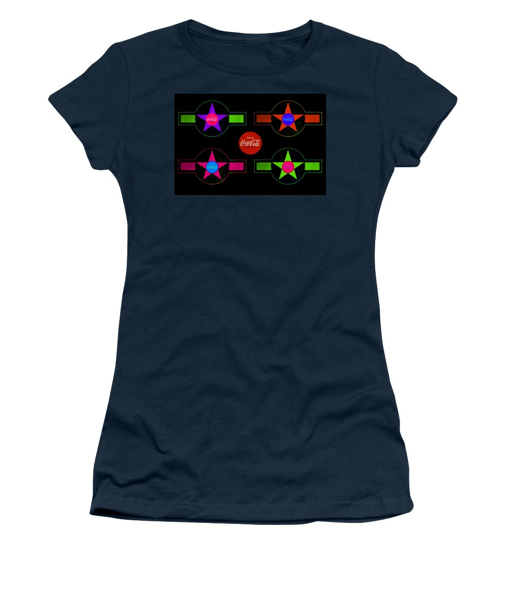 Label Women's T-Shirt featuring the painting Landscape Allsorts by Charles Stuart