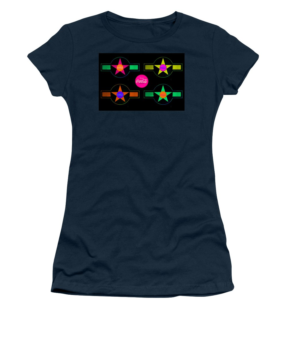 Label Women's T-Shirt (Athletic Fit) featuring the painting Landscape Candy by Charles Stuart