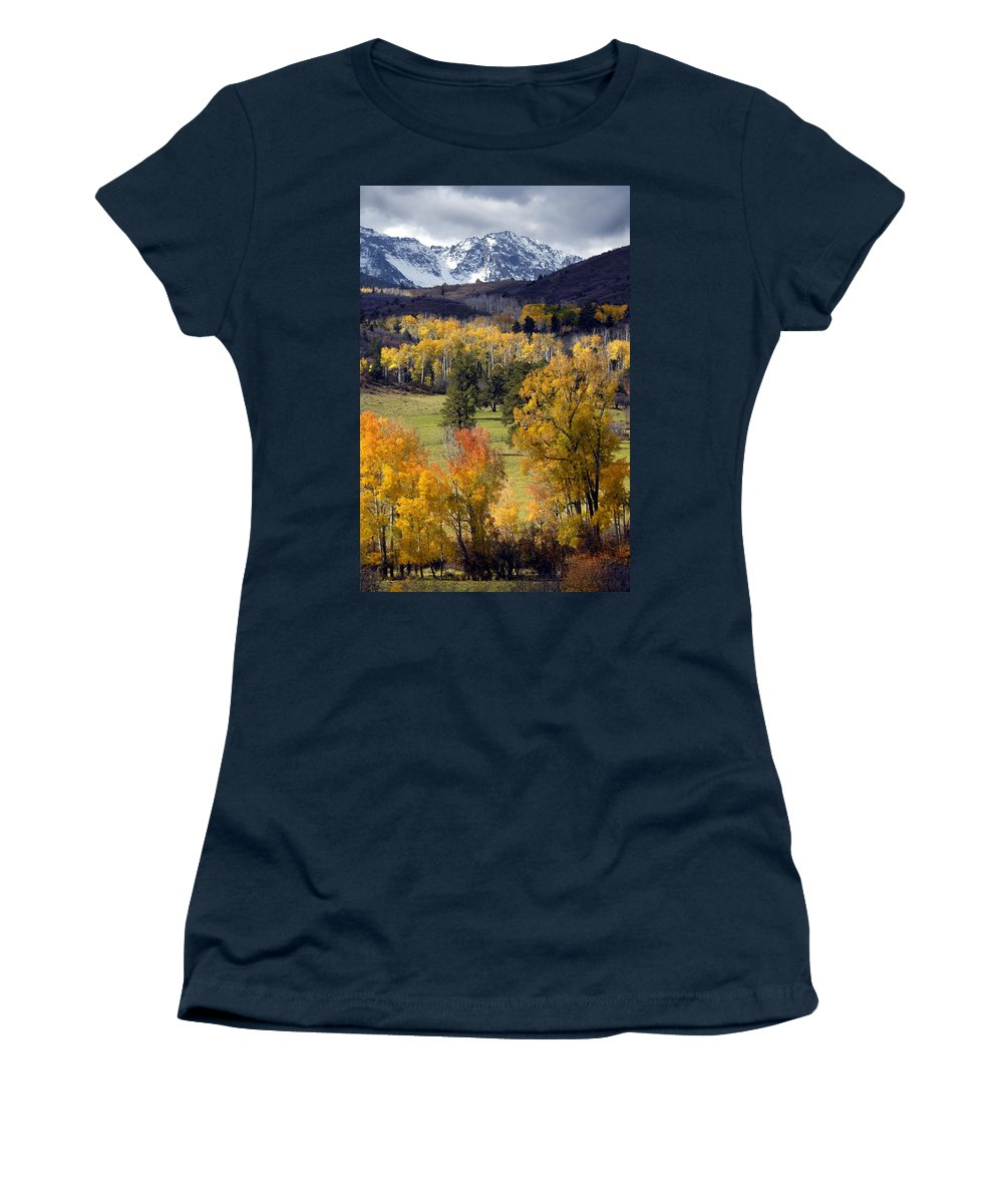Colorado Women's T-Shirt featuring the photograph Last Light Before The Storm by Dave Mills