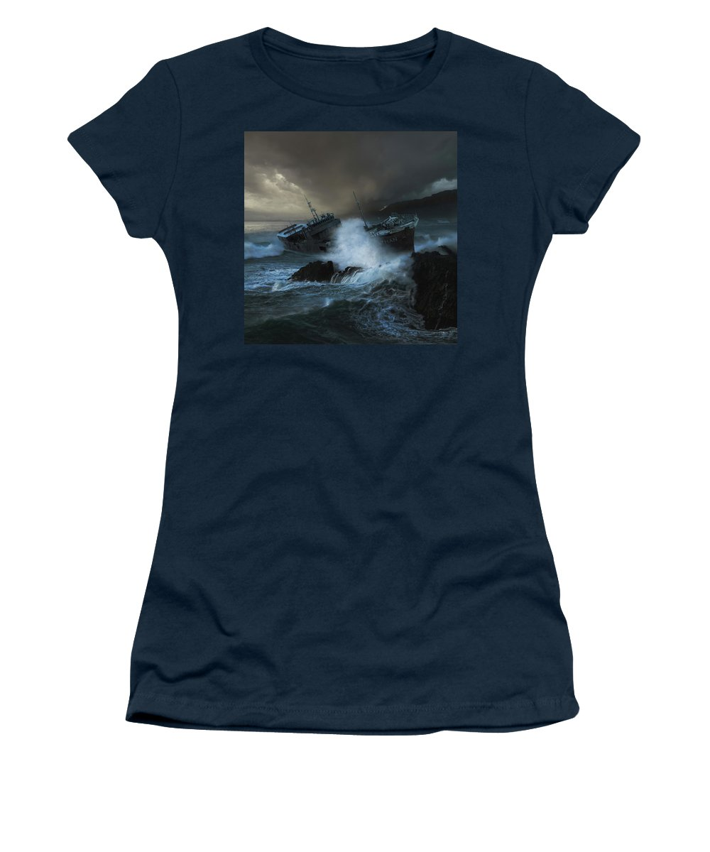 Sea Women's T-Shirt featuring the photograph Leviathan by Michal Karcz