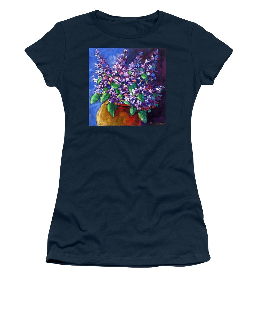 Art Women's T-Shirt (Athletic Fit) featuring the painting Lilacs by Richard T Pranke