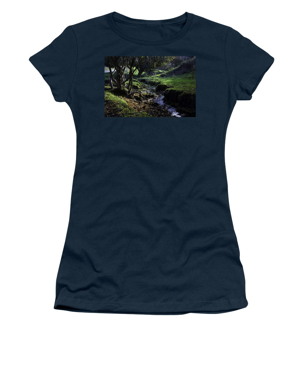 Stream Women's T-Shirt (Athletic Fit) featuring the photograph Little Stream by Kelly Jade King