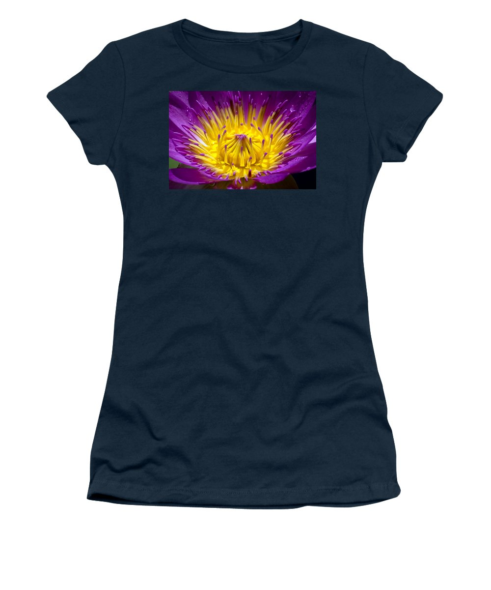 Aquatic Women's T-Shirt featuring the photograph Lotus 12 by Jijo George