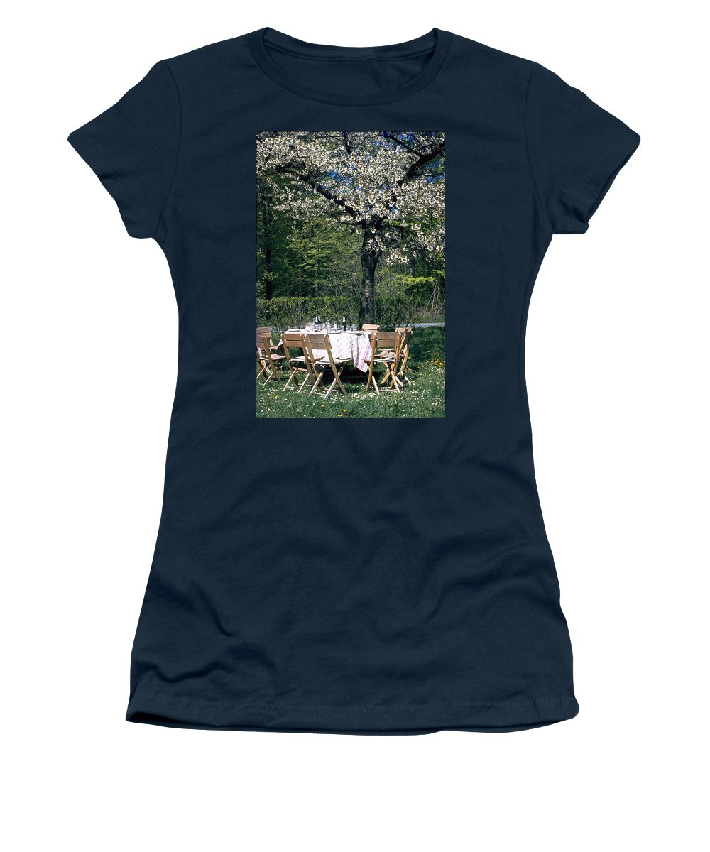 Lunch Women's T-Shirt (Athletic Fit) featuring the photograph Lunch by Flavia Westerwelle