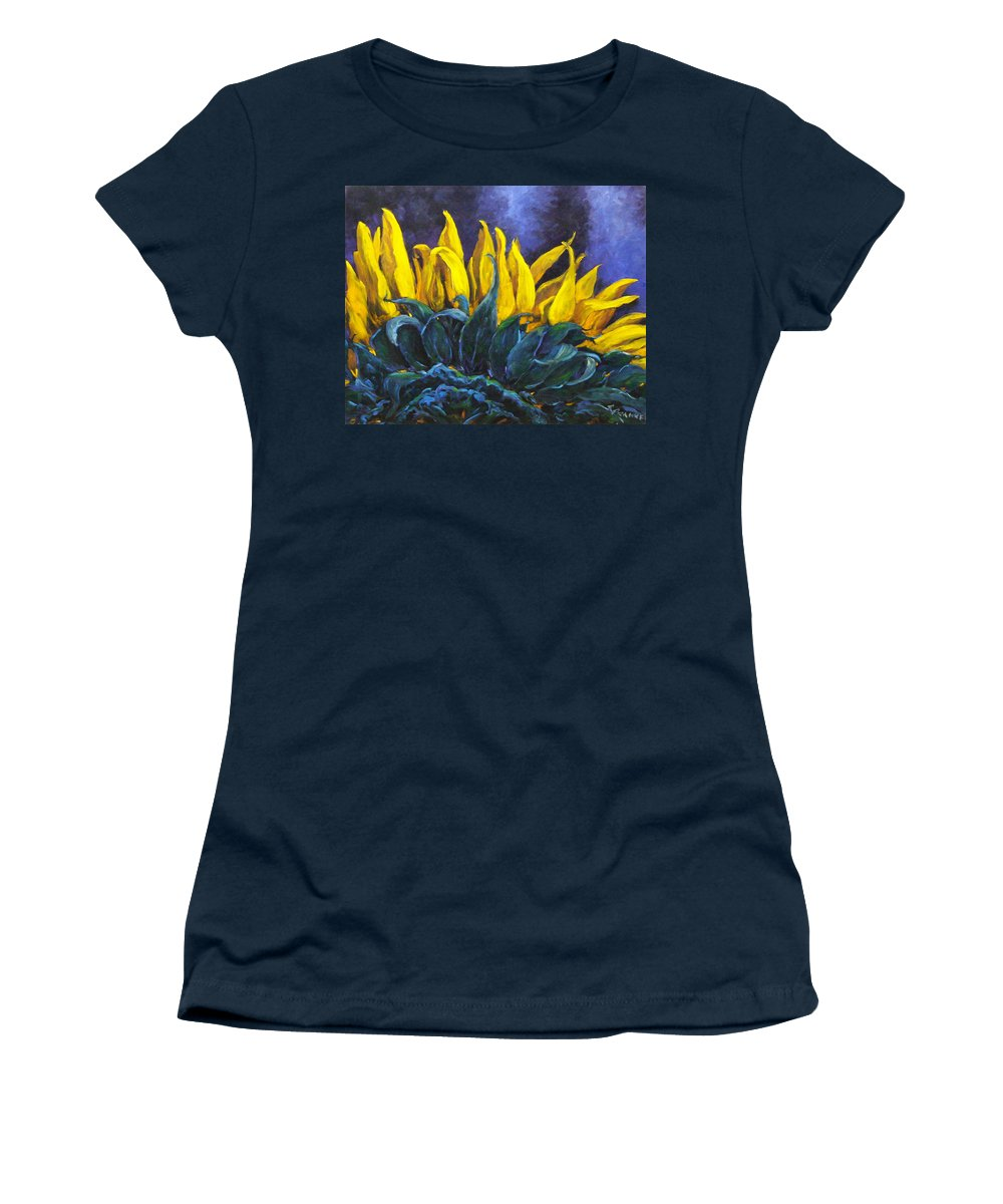 Flower Women's T-Shirt featuring the painting Majestica by Richard T Pranke