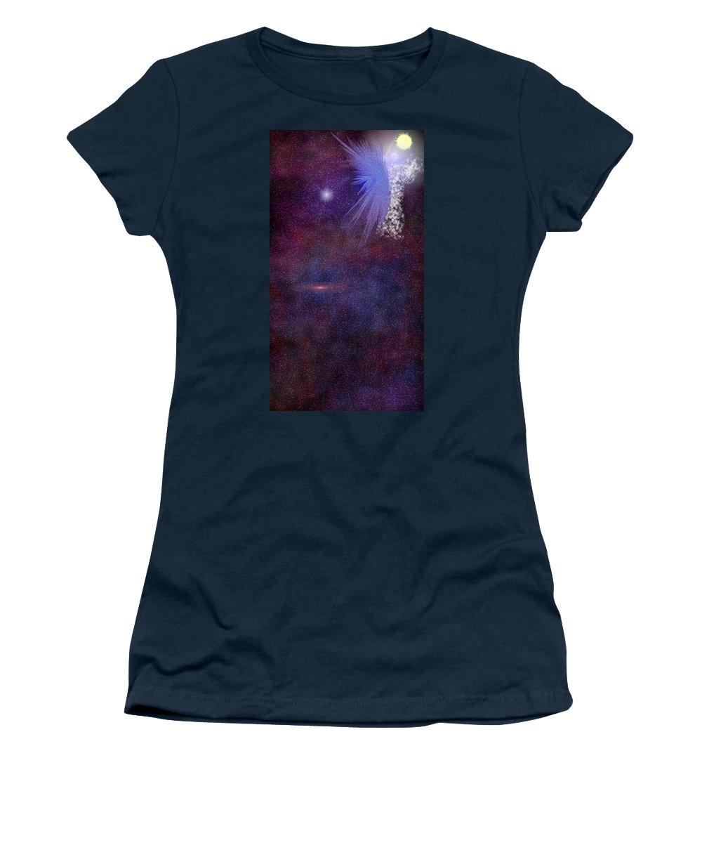 Angel Women's T-Shirt featuring the digital art Matthew Book 1 Twenty Four by Carly Stroman