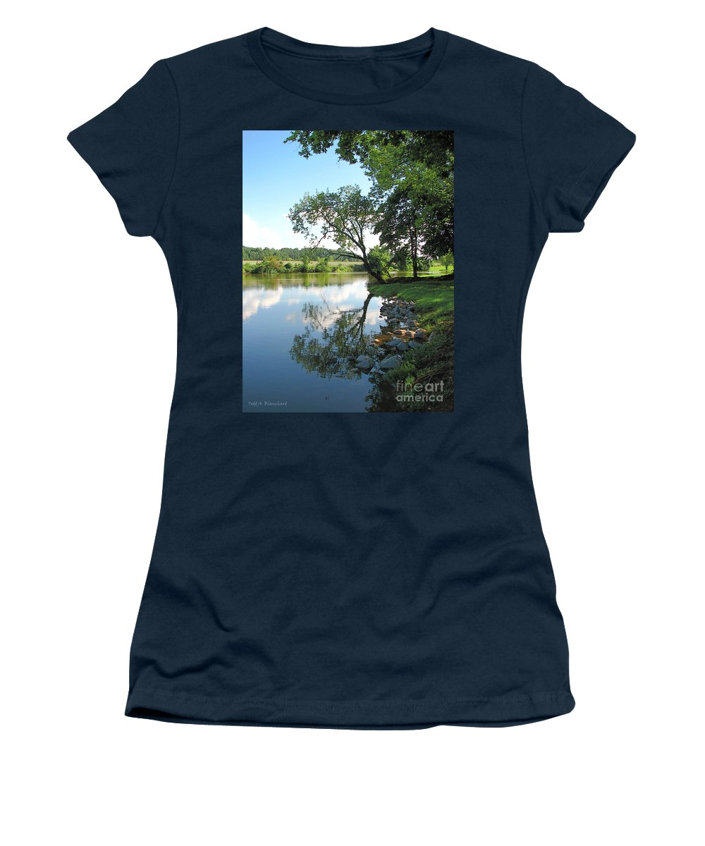 Landscape Women's T-Shirt (Athletic Fit) featuring the photograph Mirror Image by Todd A Blanchard