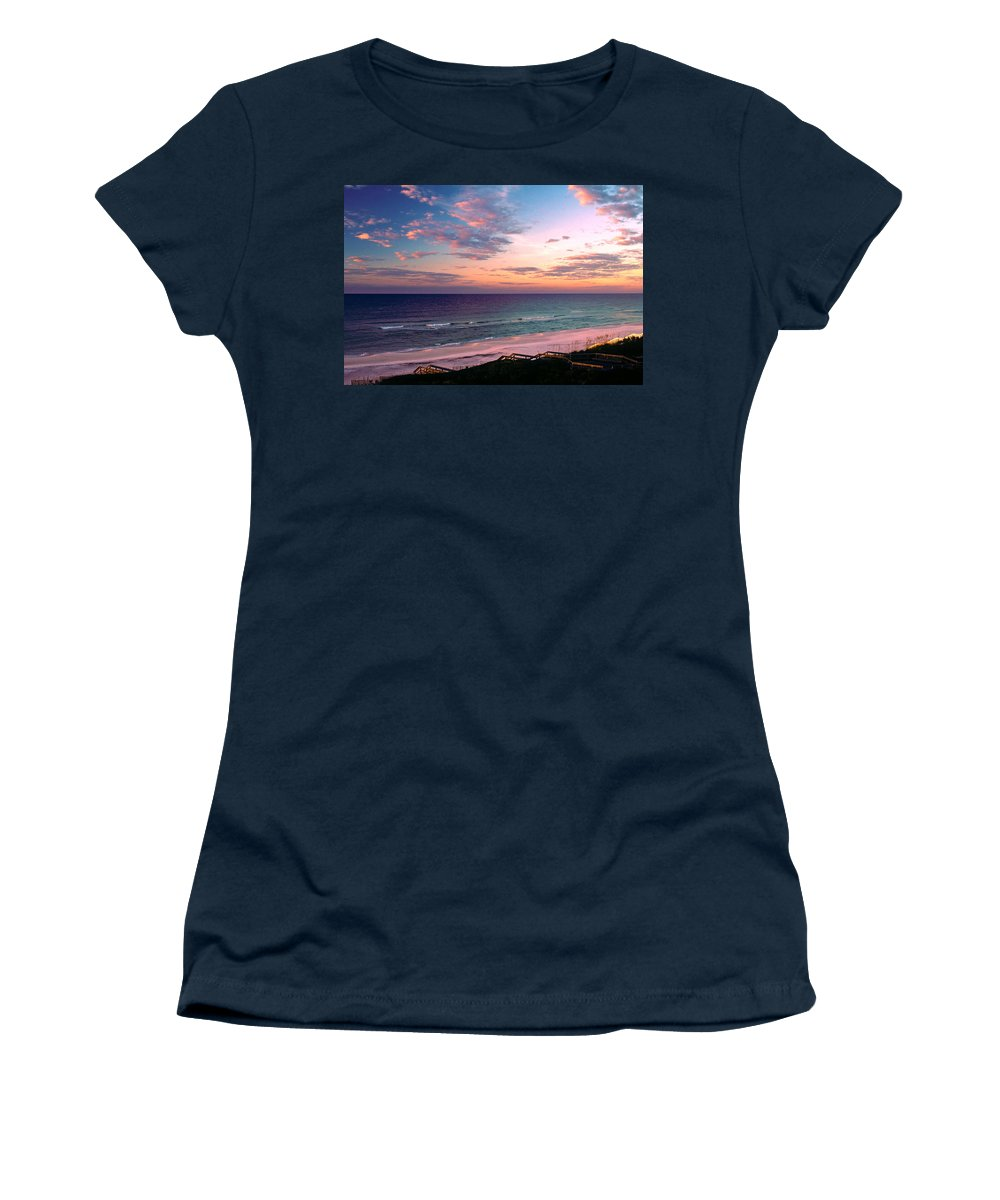 Rosemary Beach Women's T-Shirt featuring the photograph Morning Light On Rosemary Beach by Marie Hicks