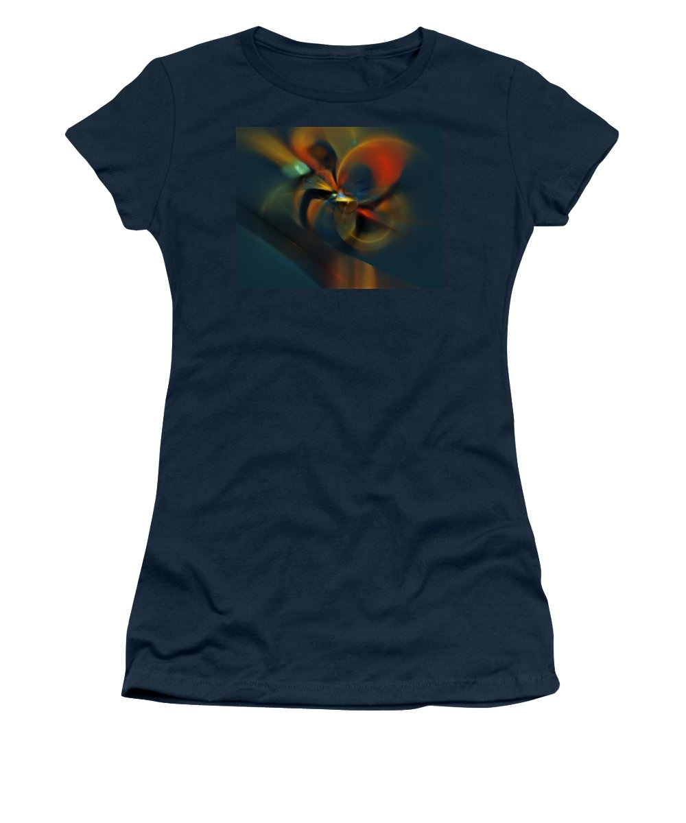 Digital Painting Women's T-Shirt (Athletic Fit) featuring the digital art Mornings Slippery Slope by David Lane